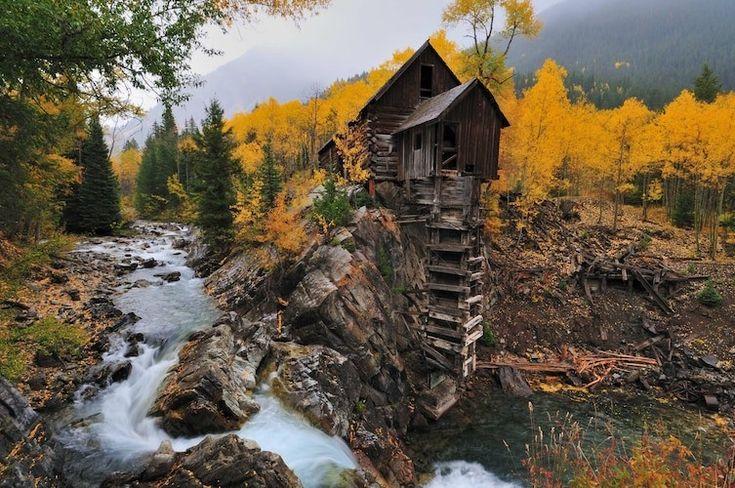 Заброшенная мельница в Колорадо