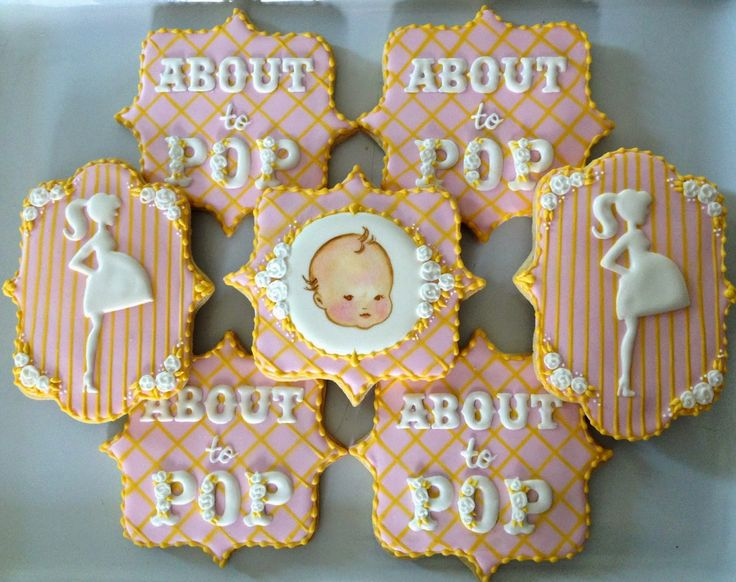 Baby Shower Cookies~ By Oh Sugar Events: About To Pop Cookies, Pink,