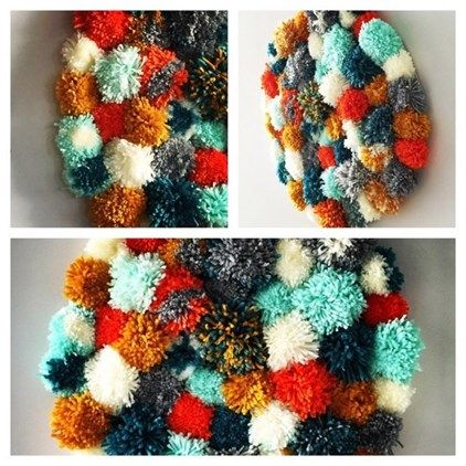 Handcrafted textured wool wall hanging!