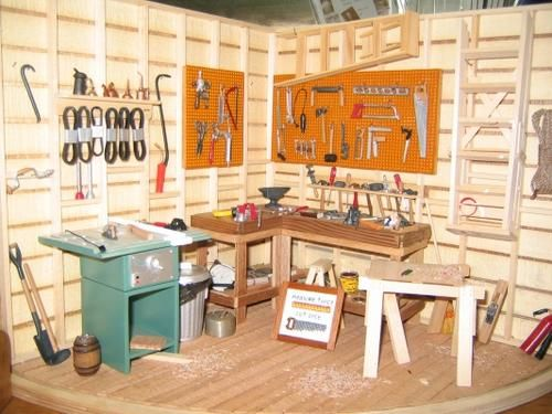 Work Shop at Broken Wheel Gallery | Stewart Dollhouse Creations