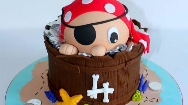 15 Cute as a Button Pirate Cake Designs