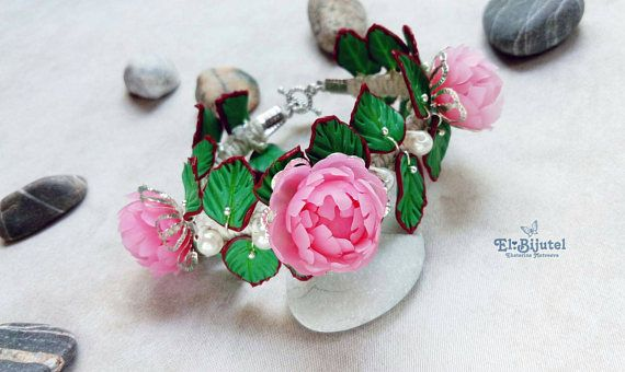 Check out this item in my Etsy shop https://www.etsy.com/listing/538361065/flower-bracelet-polymer-clay-bracelet