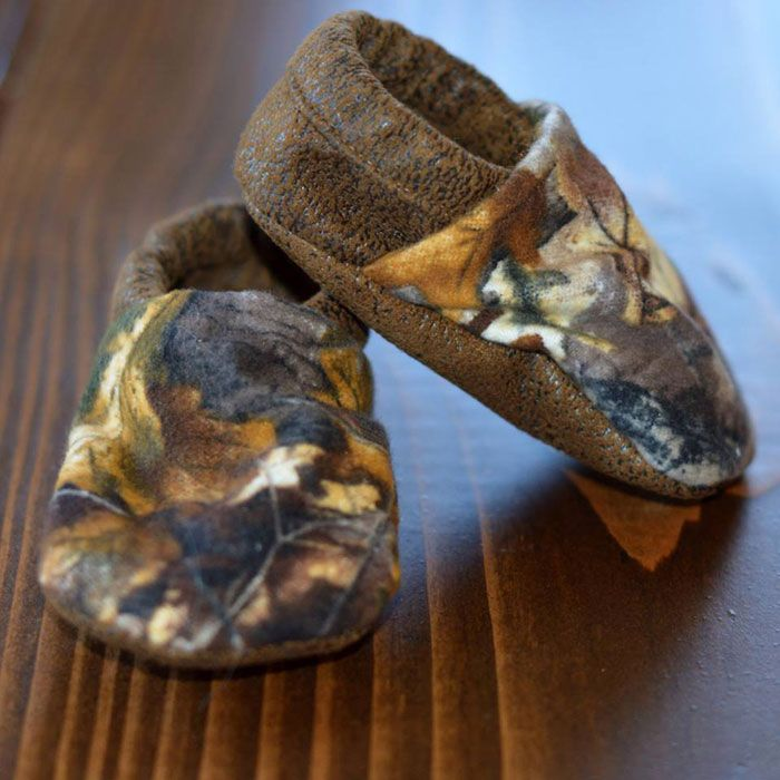 Camo and Suede Baby Shoes