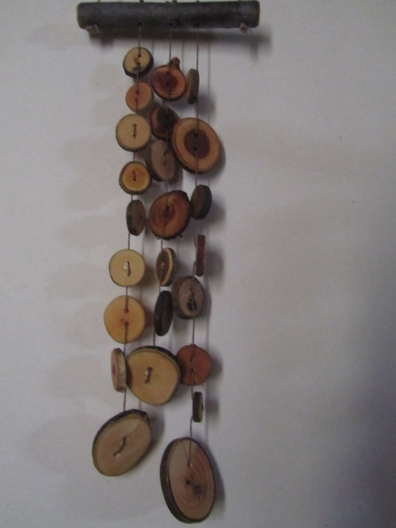 Rustic Wooden Button Wind Chimes by PymatuningCrafts on Etsy, $17.00