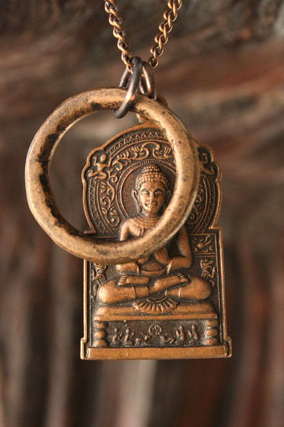 Reserved for Joseph: 1985 Buddha Pendant by losttribedesigns