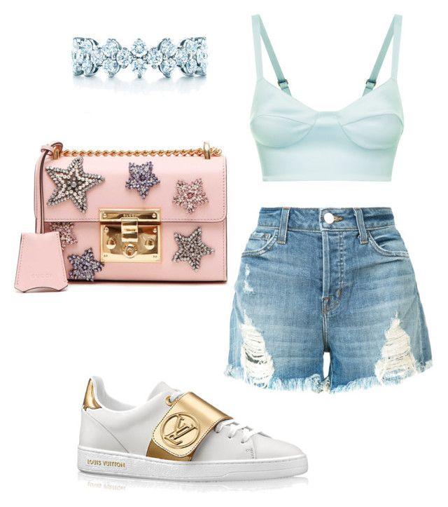 """""""Untitled #1188"""" by ednatchiwana on Polyvore featuring J Brand, Gucci and Tiffany & Co."""