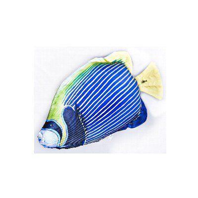 GP 175662 - Mini Cuscino ornamentale a forma di Pesce Angelo Reale - L.32 cm
