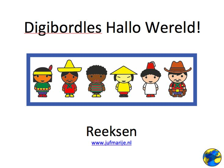 digibordles hallo wereld