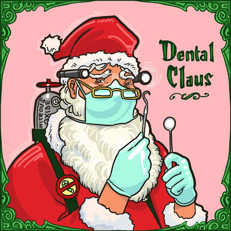 Meet Dental Claus - He knows if you've been flossing... :)