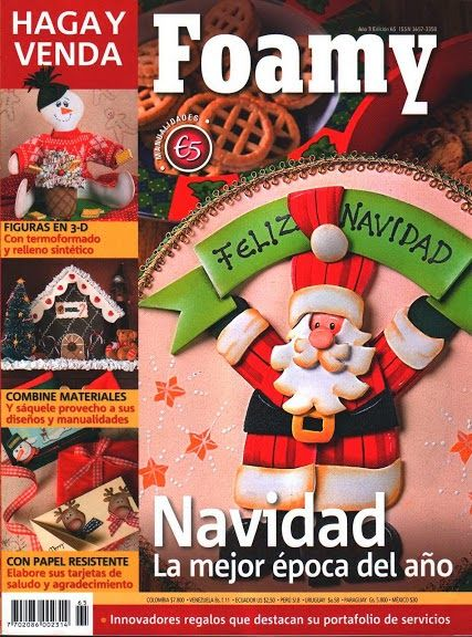 Blog de Santa clauss: Revista en Foamy para navidad