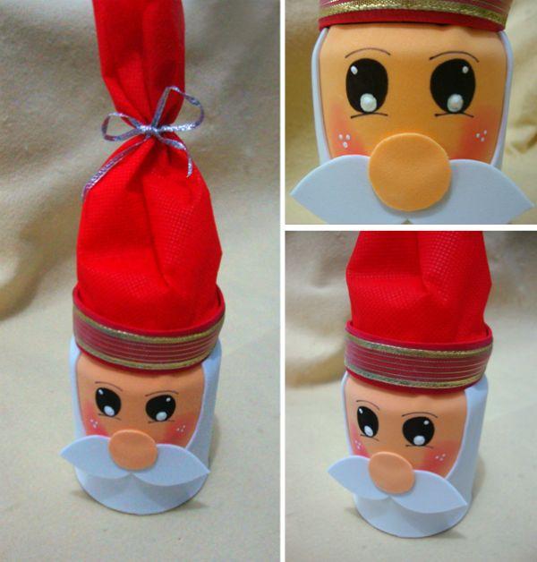 Passo a passo – Papai Noel porta-guloseimas