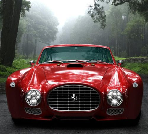 GWA Ferrari F340 Competizione, based on the 1952 Ferrari 340 Mexico Berlinetta. 5.4L V12 Engine puts out 476 bhp @ 6300 rpm. Price? Don't ask!