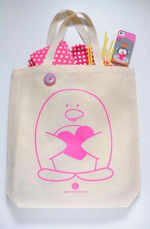 Penguin Tote Bag! by queeniescards.com