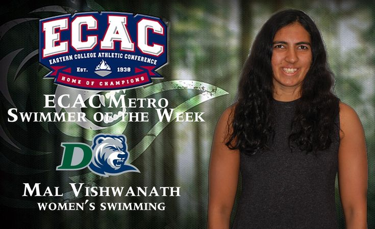 SwimIndia Congratulates Malavika Vishwanath and Wishes Her Continued Success!  Malavika honored as a 'Female Athlete of the Week' award for the 4th time this season and also selected as an 'ECAC Metro Swimmer of the Week.'  Read More @ #SwimIndia