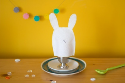 Egg cosy designede by @Planet Fur for   easter special of Dutch creative interior + D.I.Y. magazine 101 Woonideeën