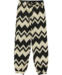 """George A Ltd Big Girls' """"Zigzagalicious"""" Jogger Pants (Sizes 7 – 16) $4.99  Silky, stretchy construction and a jogger fit make these George A Ltd pants a trendy pick. They feature a tie accent at the front waistband, elastic trim, and a zigzag print throughout."""