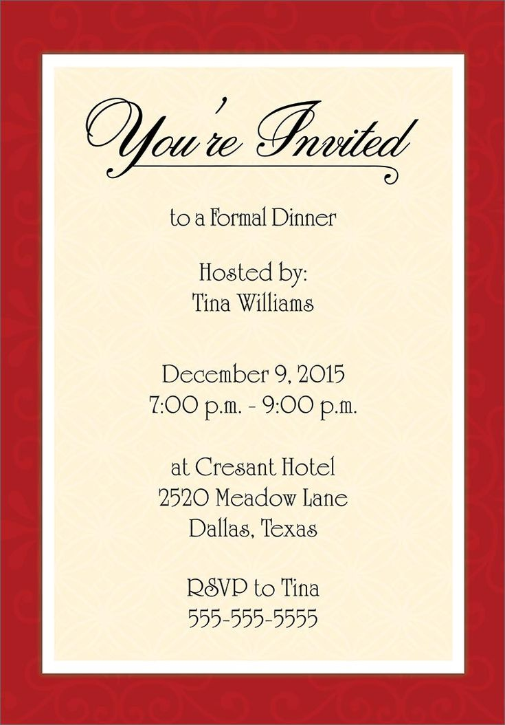 Dinner Invitation Template Free Places to Visit Pinterest - dinner invitation template