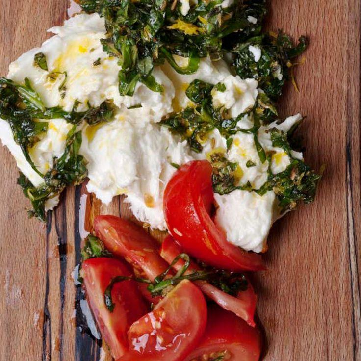 Ottolenghi; Marinated Buffalo Mozzarella & Tomato