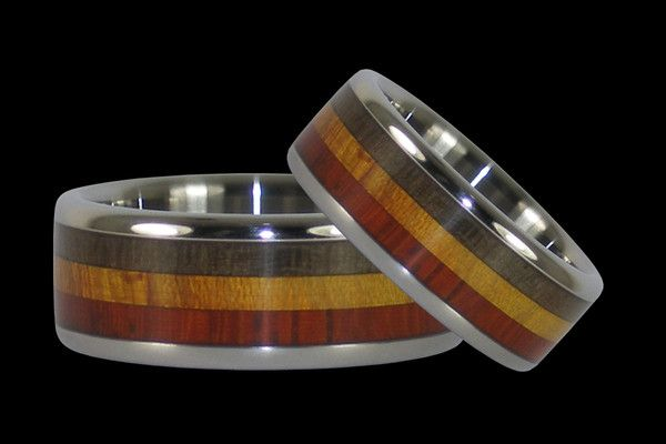 Rasta Wedding Rings – Hawaii Titanium Rings