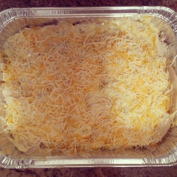 FREEZER MEAL: CHICKEN ENCHILADA CASSEROLE