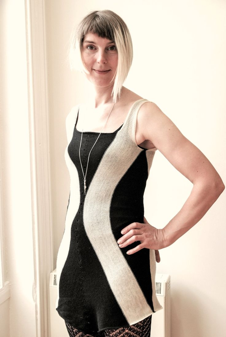 Beate in knitted vest dress