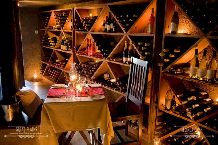 The Selinda wine cellar | Selinda Camp