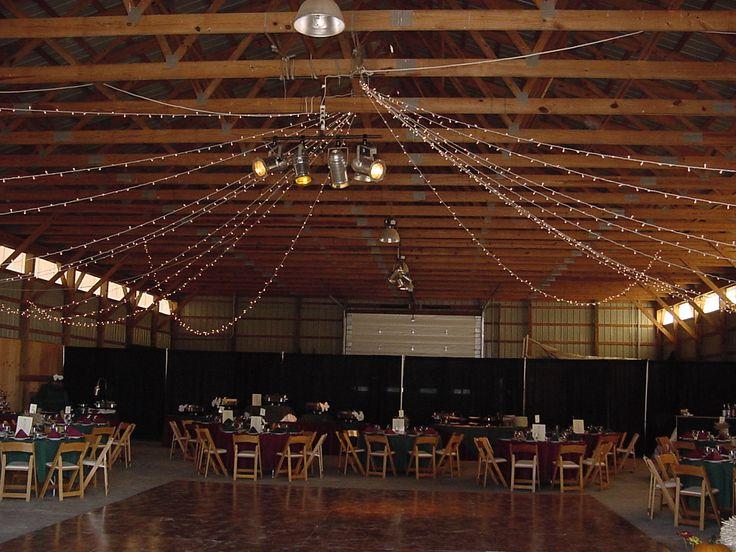 Pole Barn Wedding... Lights On Ceiling?