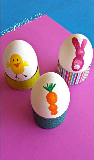 fingerprint easter egg kids craft