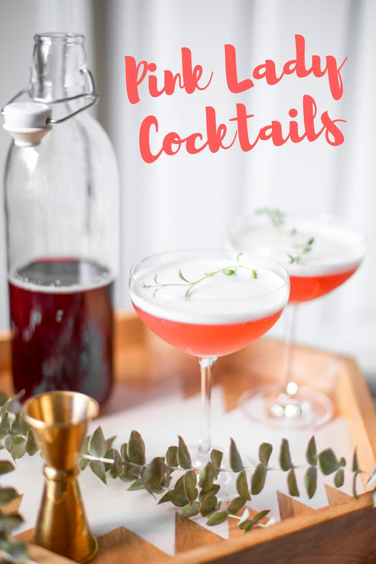 Homemade Grenadine gives these Pink Lady Cocktails the most DELICIOUS flavor and color | the INSPIRED home