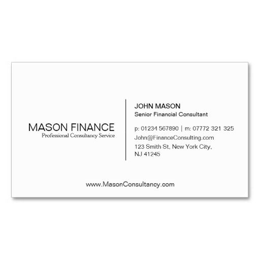 66 best white minimalist business cards images on pinterest simple white customizable business card template reheart Image collections