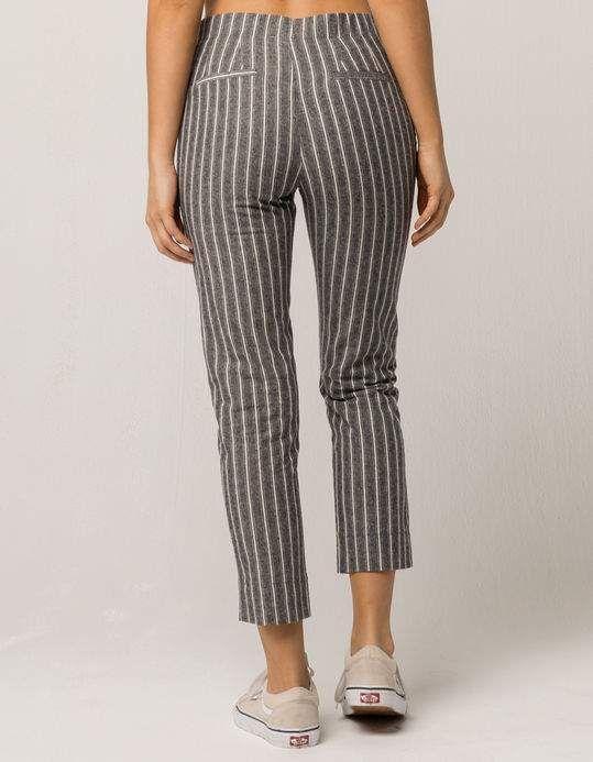 e20b4b02ca370 IVY & MAIN Grey Stripe Womens Crop Pants - GRAY - 323473115 | Tillys ...