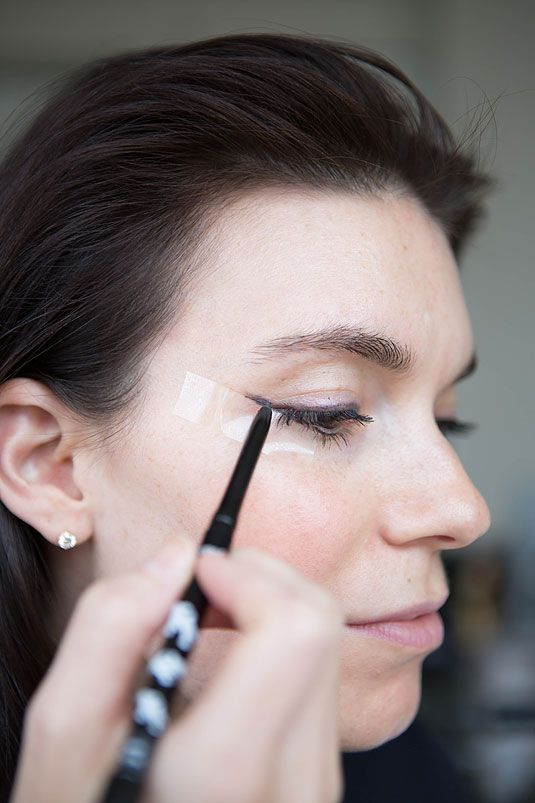 Unconventional Beauty Products - DIY Household Beauty Hacks - Redbook Use transparent tape as a guideline for the tail of your cat-eye.