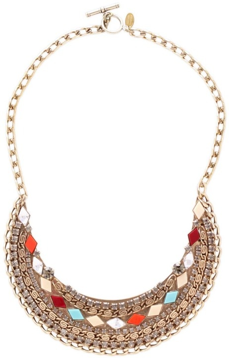 Mosaic Embellished Bib necklace by Anton Heunis at shopethica.com #ecofashion