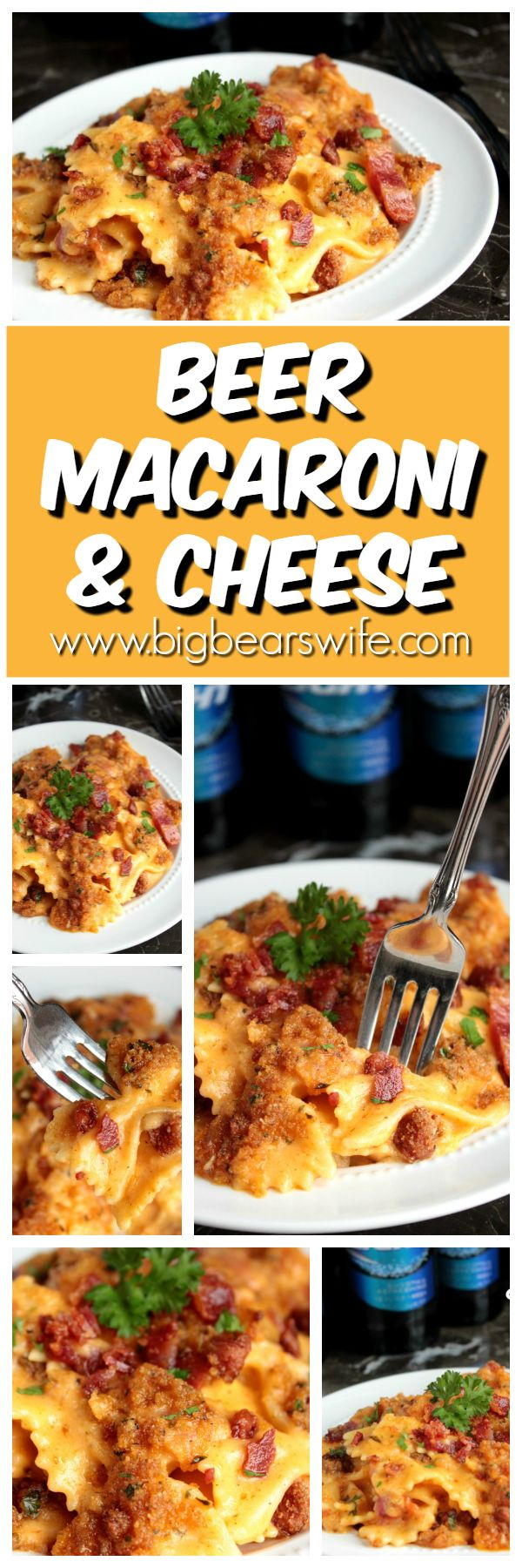 Beyond amazing. One of the best mac and cheese recipes on Pinterest!!     Beer Macaroni and Cheese - Bacon Beer Macaroni and Cheese - Big Bear's Wife (Baking Macaroni And Cheese Dinners)