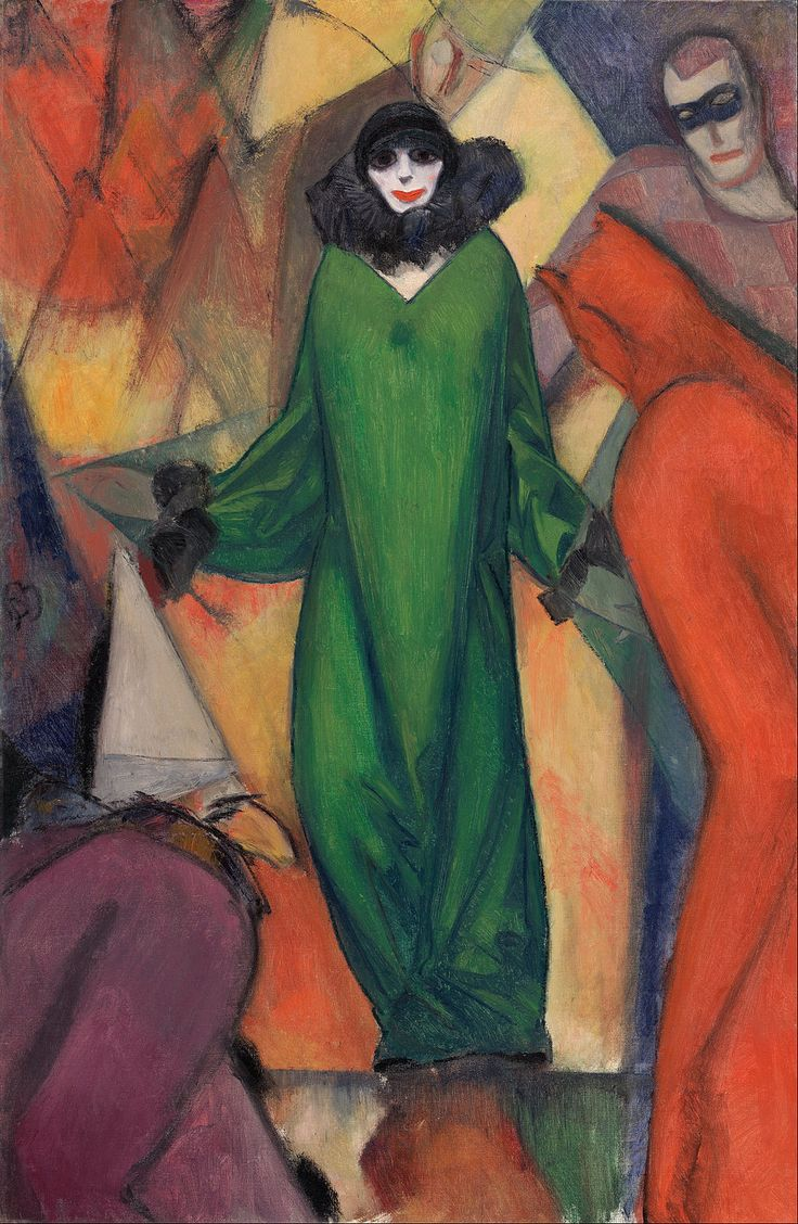 17 best images about american art 1900 1920 museum albert bloch the green domino 1913