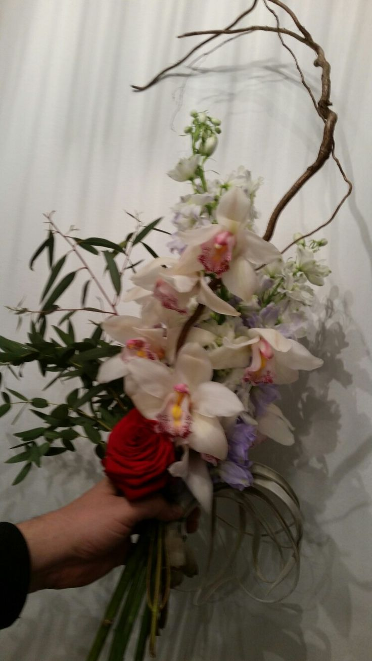 #Birthday #bouquet to the friend. #paronedesign #cymbidium