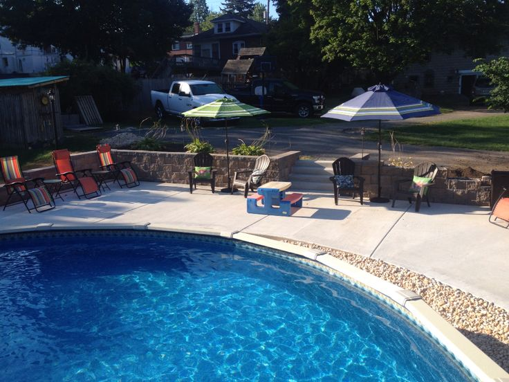 81 best images about new home ideas on pinterest ladder for Best looking above ground pools