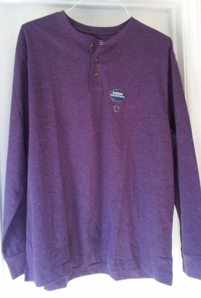 ca2dd70e356 NWT Mens Saddlebred LS Shirt Purple Size XL 100% Cotton Long Sleeve Solid  Shirt