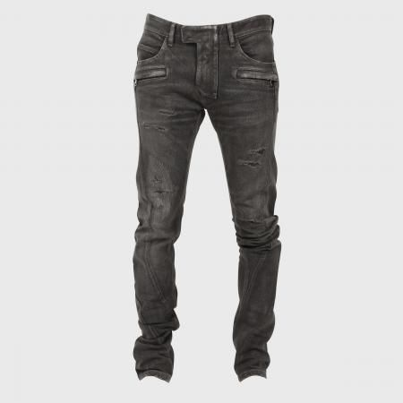 Balmain ribbed biker jeans, admittedly expensive but so effective... especially from behind.