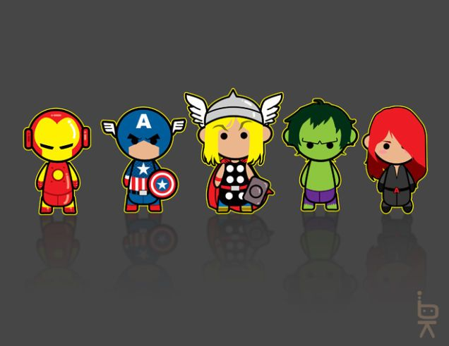 Mighty Cute Avengers: The Most Adorable Avengers Fan Art Ever! The Avengers KB by KenjiArts