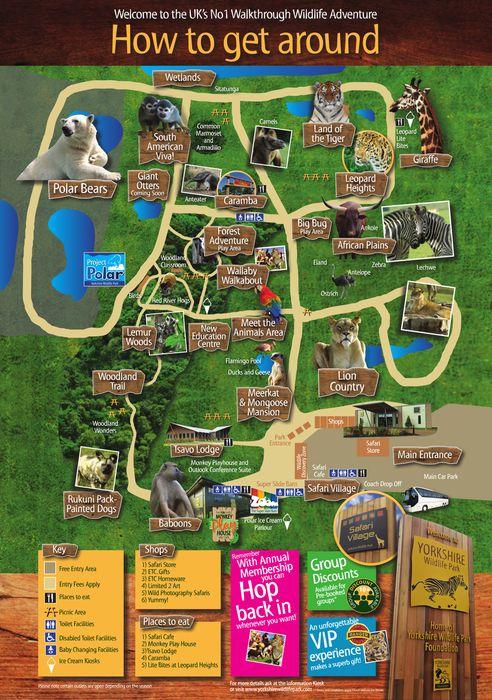 Yorkshire Wildlife Park | Park Map