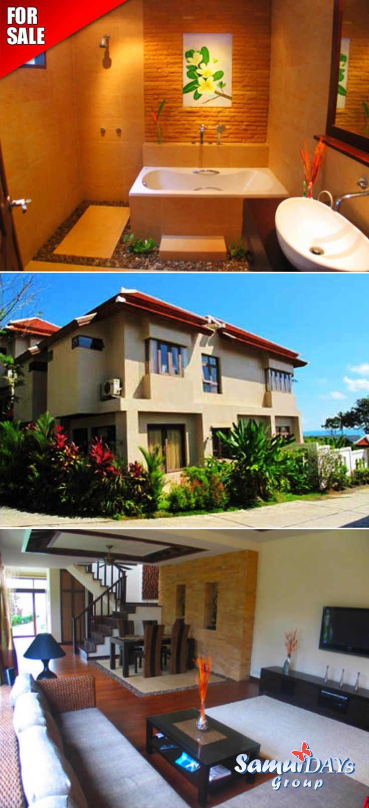 2bedroom Shared Pool Townhouse For Sale With Sea View In A Private  Residence In Samui Thailandkoh