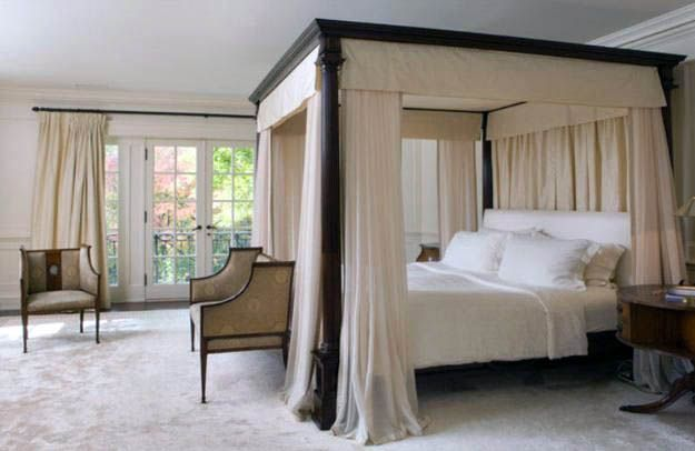 Diffe Make A Canopy Bed With, Queen Size Canopy Bed With Curtains