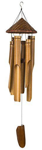 Woodstock Woven Hat Bamboo Chime- Asli Arts Collection