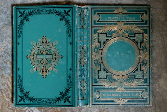 Blue Ornate Vintage Guest Book Handmade by Spellbinderie on Etsy