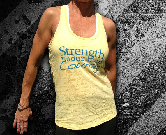 Strength Endurance Courage Burnout Tank Size by DCApparelLine