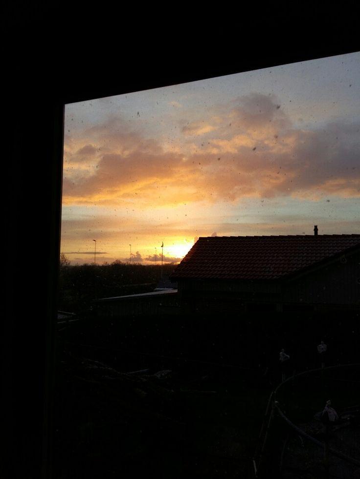 Sunrise outside my window (in Denmark) ☺