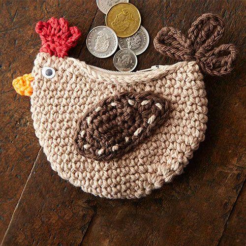 Download Cluck Change Purse Crochet Pattern (FREE)