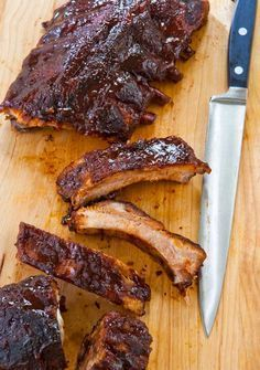 "Slow Cooker Barbecue Ribs Recipe (Folks are calling these slow cooker barbecue ribs ""OMG delicious!!!!"" and saying  ""they were a HUGE hit."" One taste and you'll understand why.)"