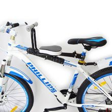 Scooter de coche de Bebé Asiento de Bicicleta Niños Delante del Niño Asiento de Bebé Bicicleta Niño Asiento Posterior de la bici Portabicicletas Trasero Seguro con Pasamanos para Niños()